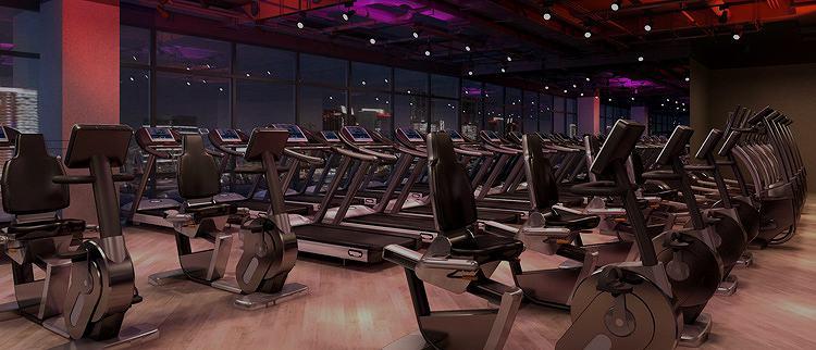 中型健身俱乐部