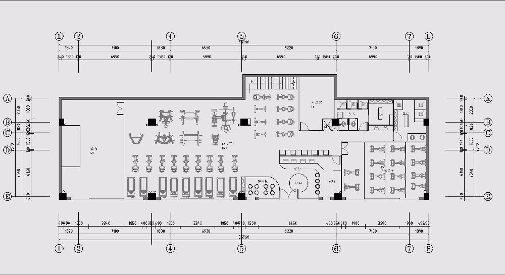 健身房平面设计图